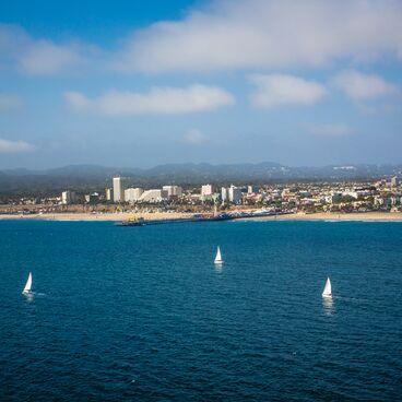 Sailboats in the Santa Monica Bay